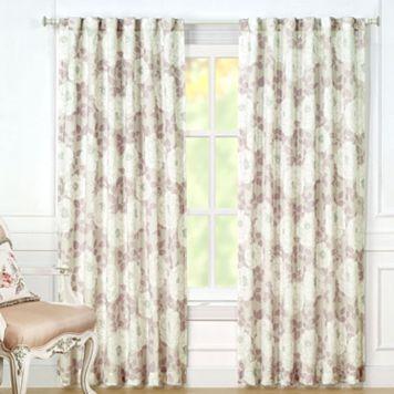 Laura Ashley 2-pack Nina Sheer Window Curtains - 40'' x 84''