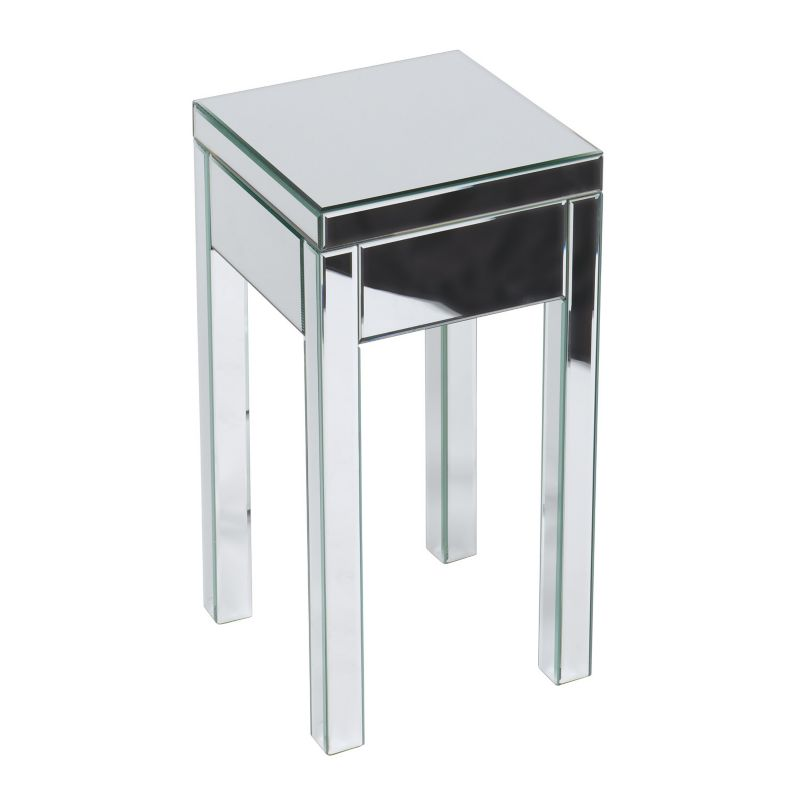 Ave Six Reflections End Table, Grey