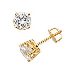 18k Gold 1/2 ctT.W. Round-Cut IGL Certified Colorless Diamond Stud Earrings