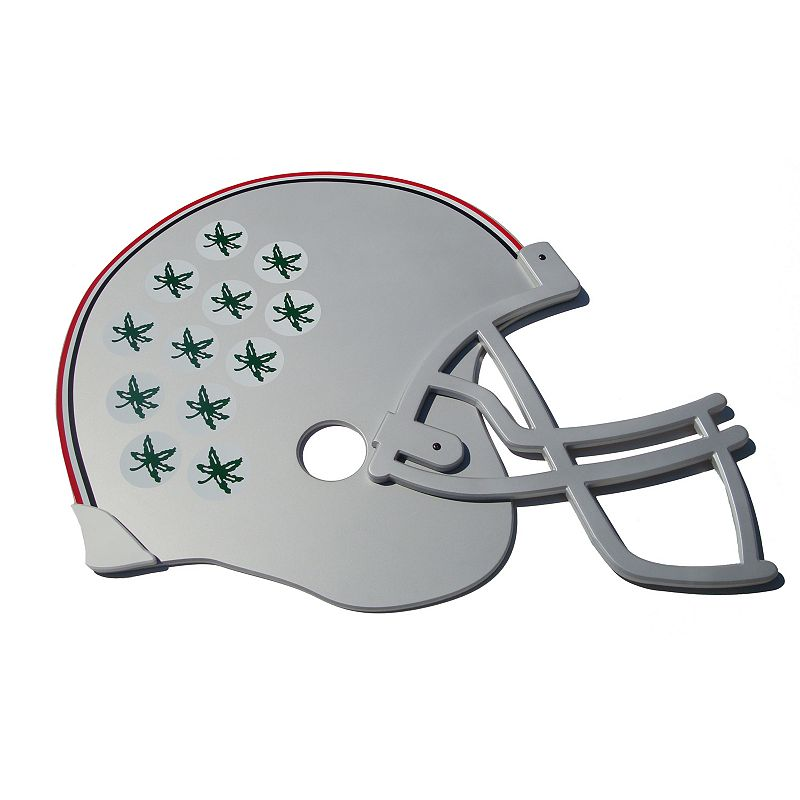 Ohio State Buckeyes 3D Football Helmet Wall Art
