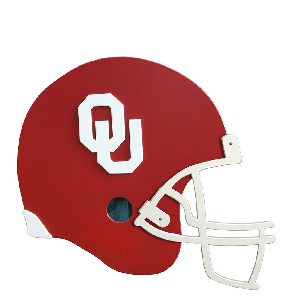Oklahoma Sooners 3D Football Helmet Wall Art