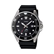 Casio Stainless Steel Black Resin Dive Watch - MDV106-1A - Men