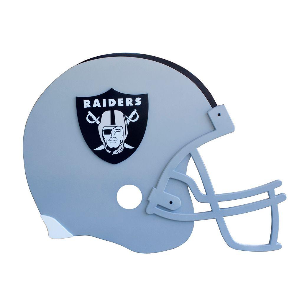 Oakland Raiders 3D Football Helmet Wall Art