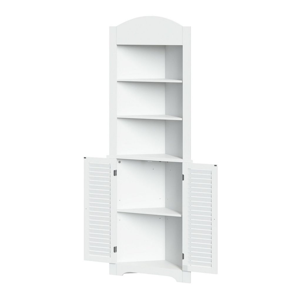 RiverRidge Home Ellsworth Corner Etagere Storage Shelf