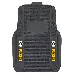 FANMATS 2 pkGreen Bay Packers Deluxe Car Floor Mats