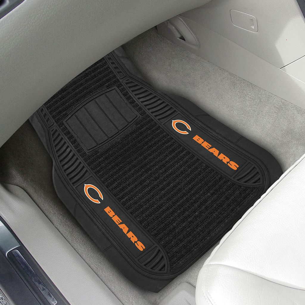 FANMATS 2-pk. Chicago Bears Deluxe Car Floor Mats