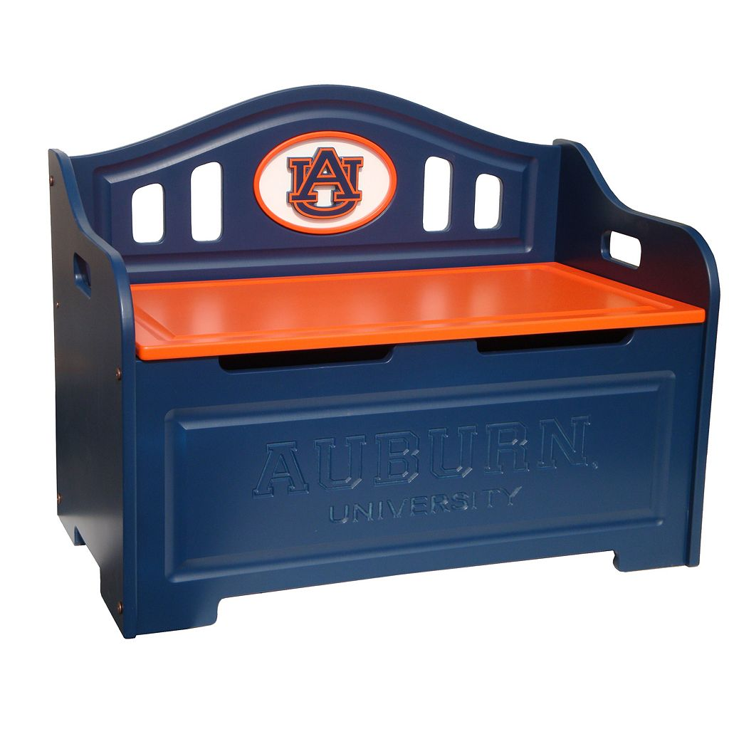 Auburn Tigers Storage Bench
