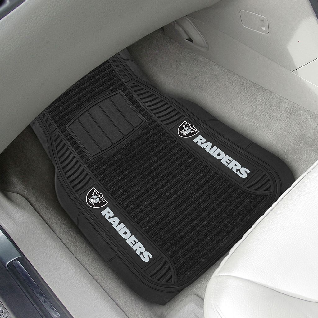 FANMATS 2-pk. Oakland Raiders Deluxe Car Floor Mats