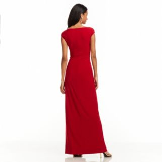 Women's Chaps Embellished Faux-Wrap Evening Gown