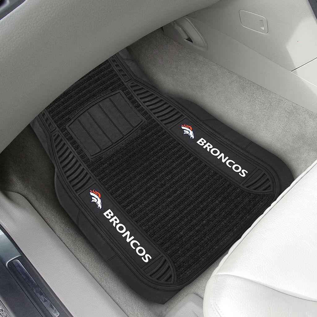 FANMATS 2-pk. Denver Broncos Deluxe Car Floor Mats