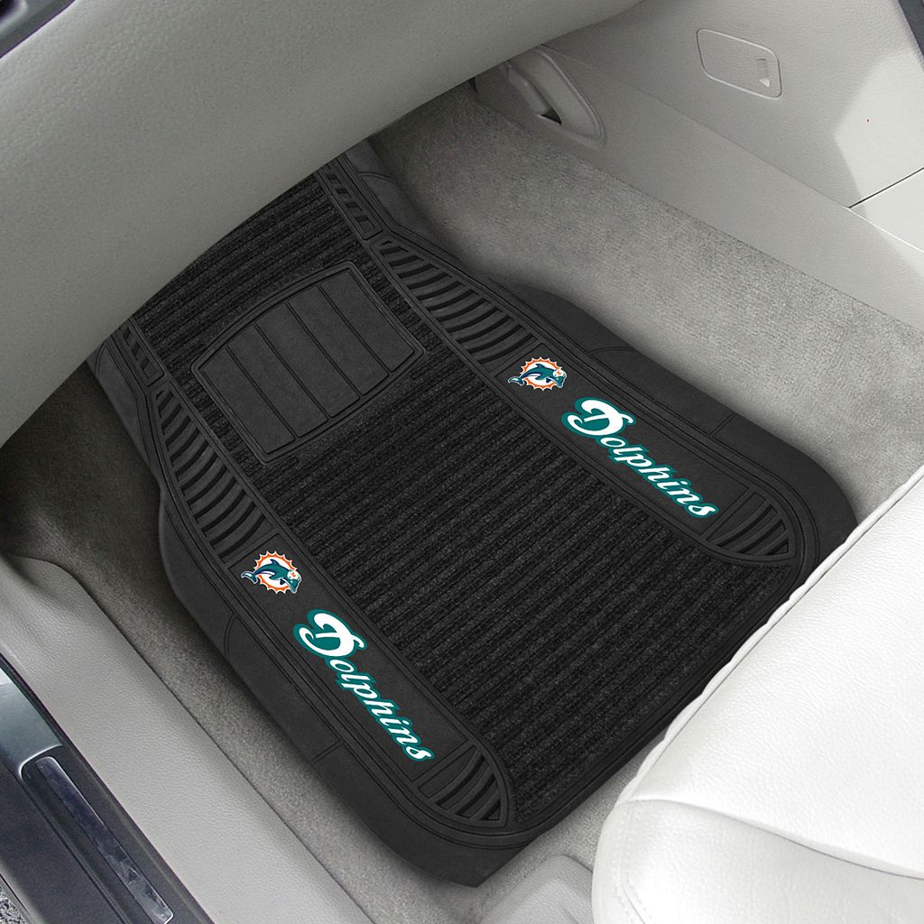 FANMATS 2-pk. Miami Dolphins Deluxe Car Floor Mats