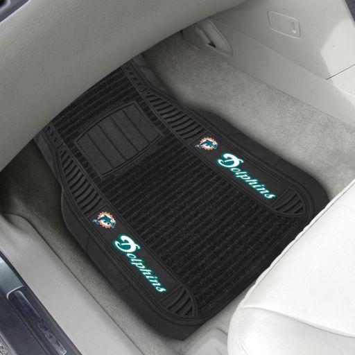 FANMATS 2-pk. Miami Dolphins Deluxe Car Floor Mats