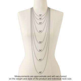 Sterling Silver Lab-Created Aqua and Diamond Accent Pendant