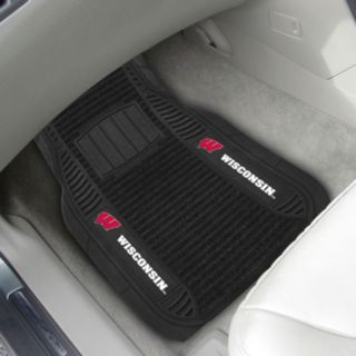 FANMATS 2-pk. Wisconsin Badgers Deluxe Car Floor Mats