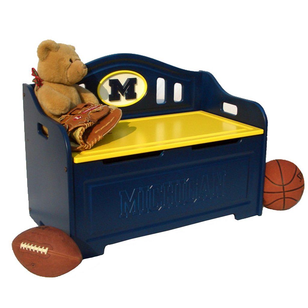 Michigan Wolverines Storage Bench