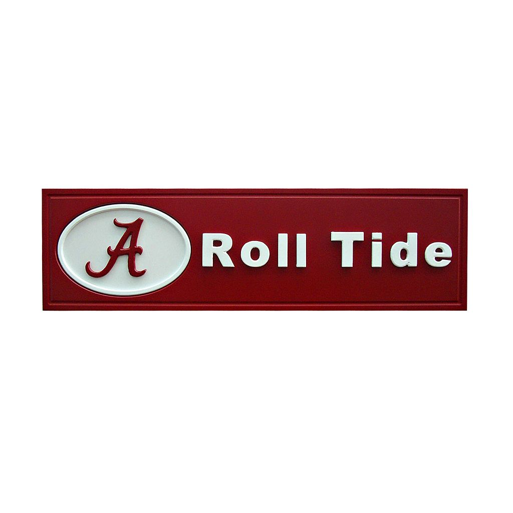 Alabama Crimson Tide Team Name Plaque