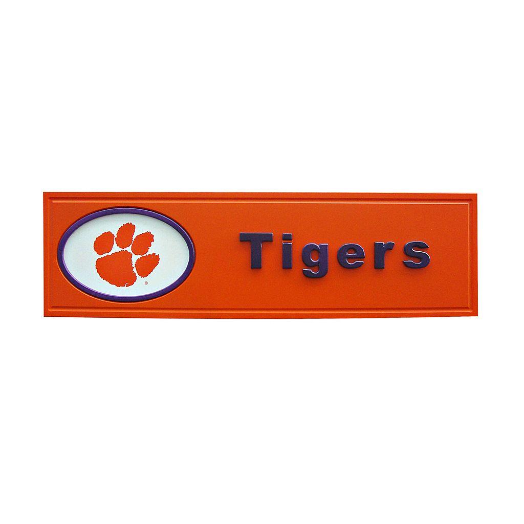Clemson Tigers Team Name Plaque