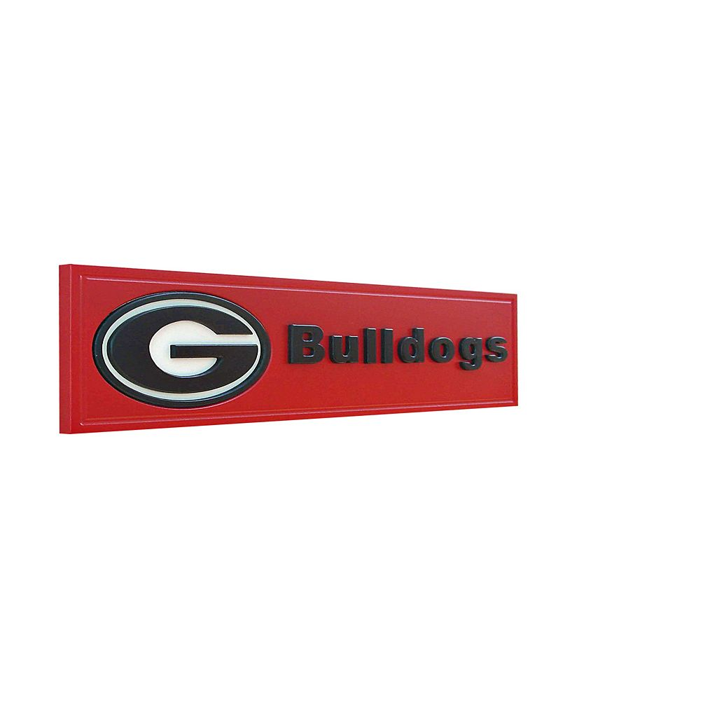 Georgia Bulldogs Team Name Plaque