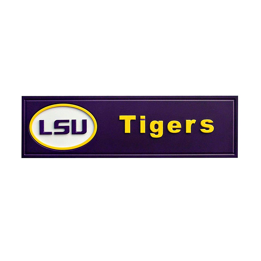 LSU Tigers Team Name Plaque