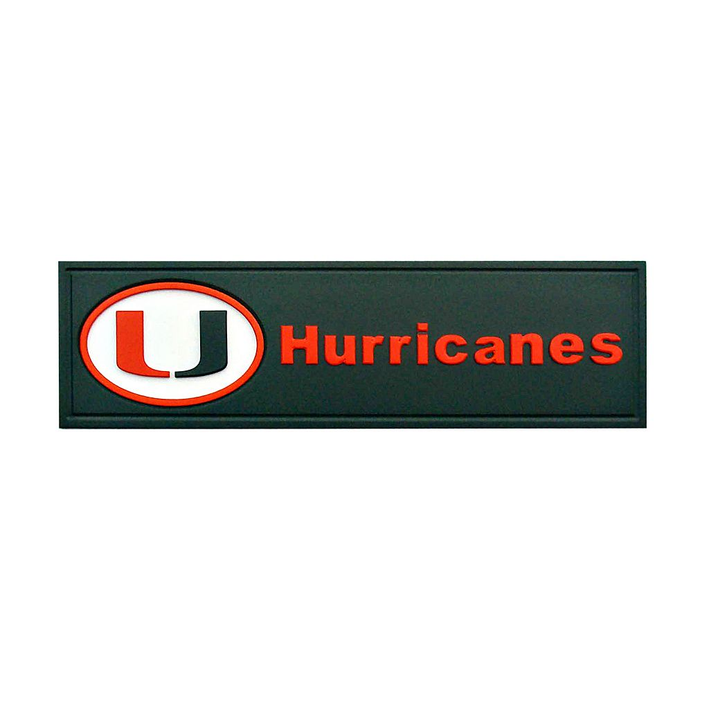 Miami Hurricanes Team Name Plaque