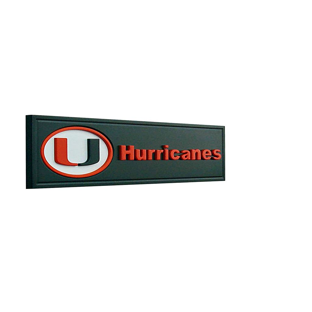 Miami Hurricanes Team Name Plaque