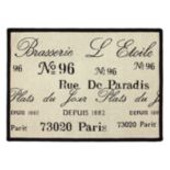 "Park B. Smith Brasserie Rug - 19"" x 27"""
