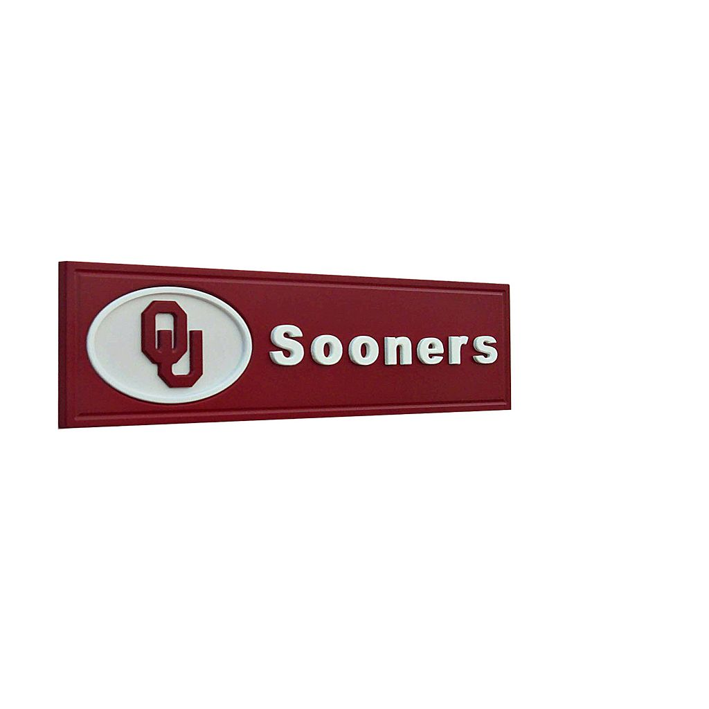Oklahoma Sooners Team Name Plaque