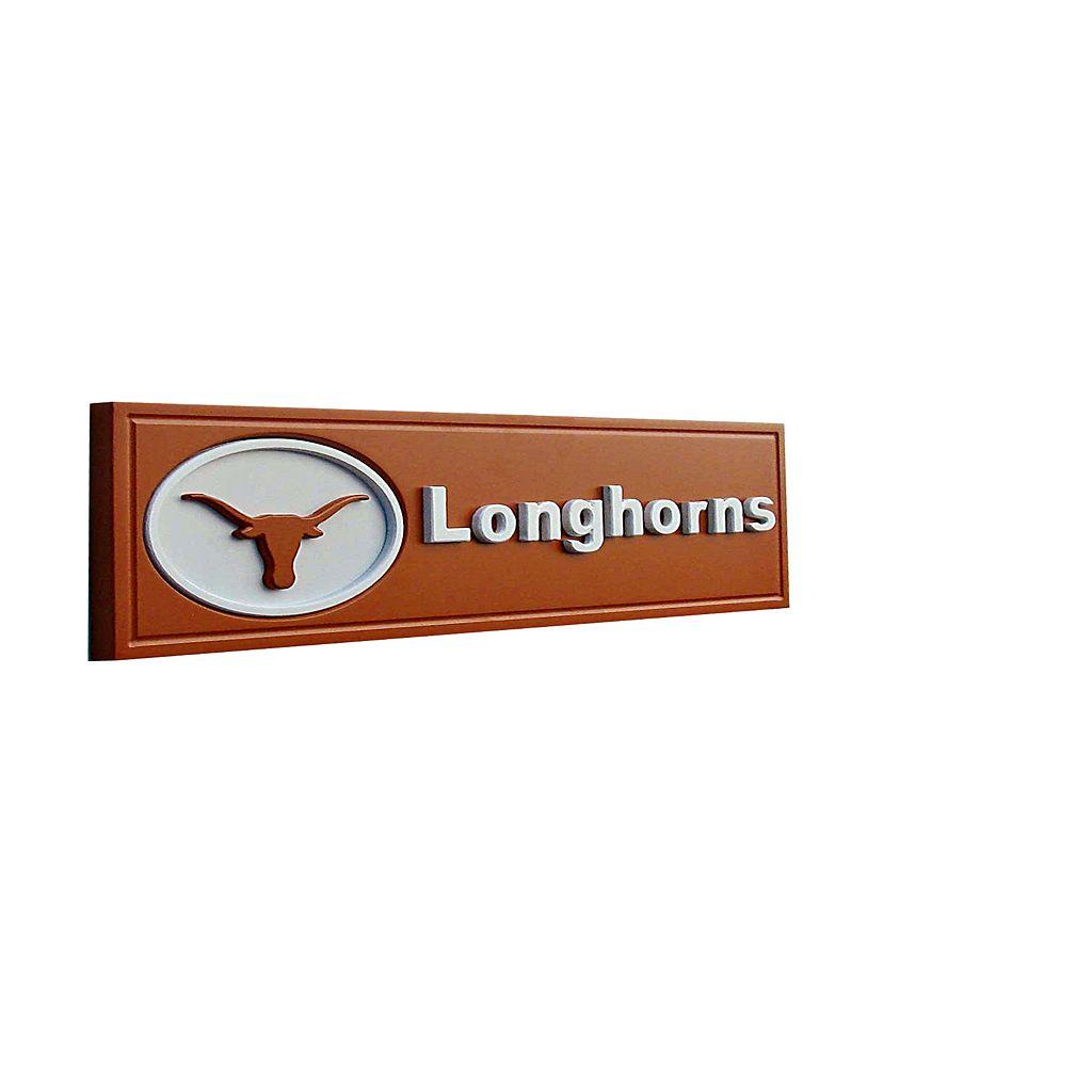 Texas Longhorns Team Name Plaque