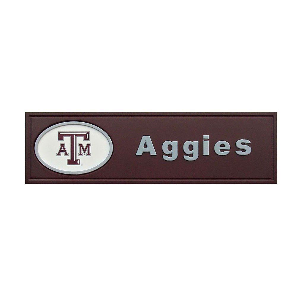 Texas A&M Aggies Team Name Plaque