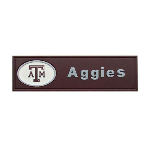 Texas A and M Aggies Team Name Plaque