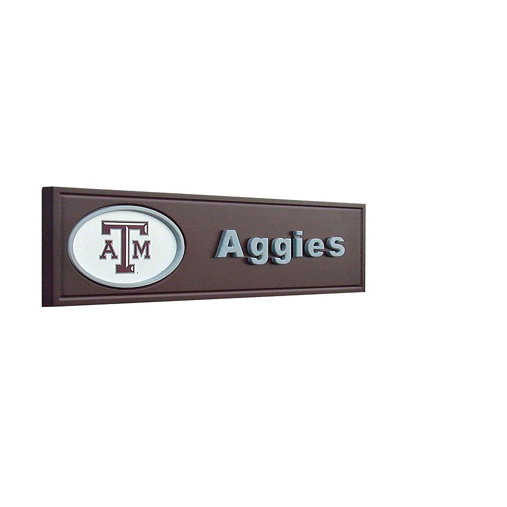 Texas A and M Aggies Team Name Plaque