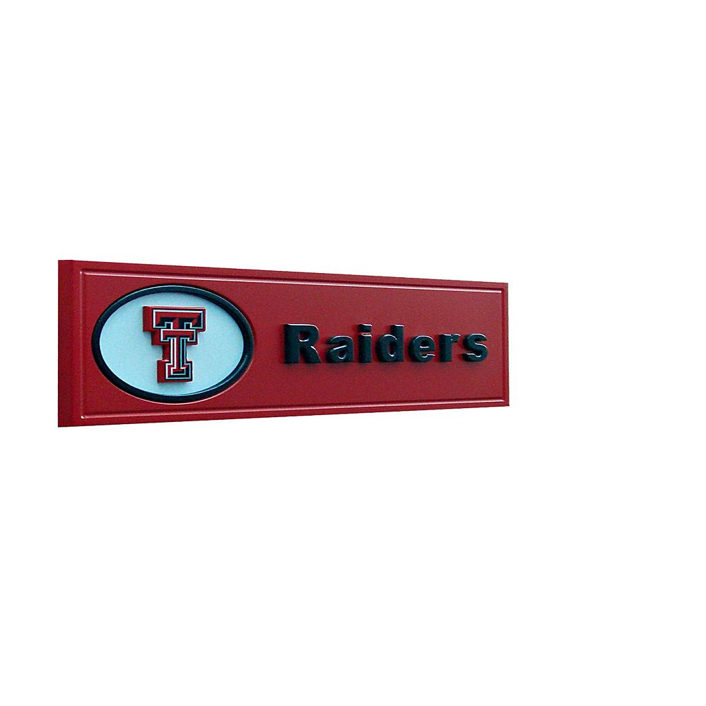 Texas Tech Red Raiders Team Name Plaque