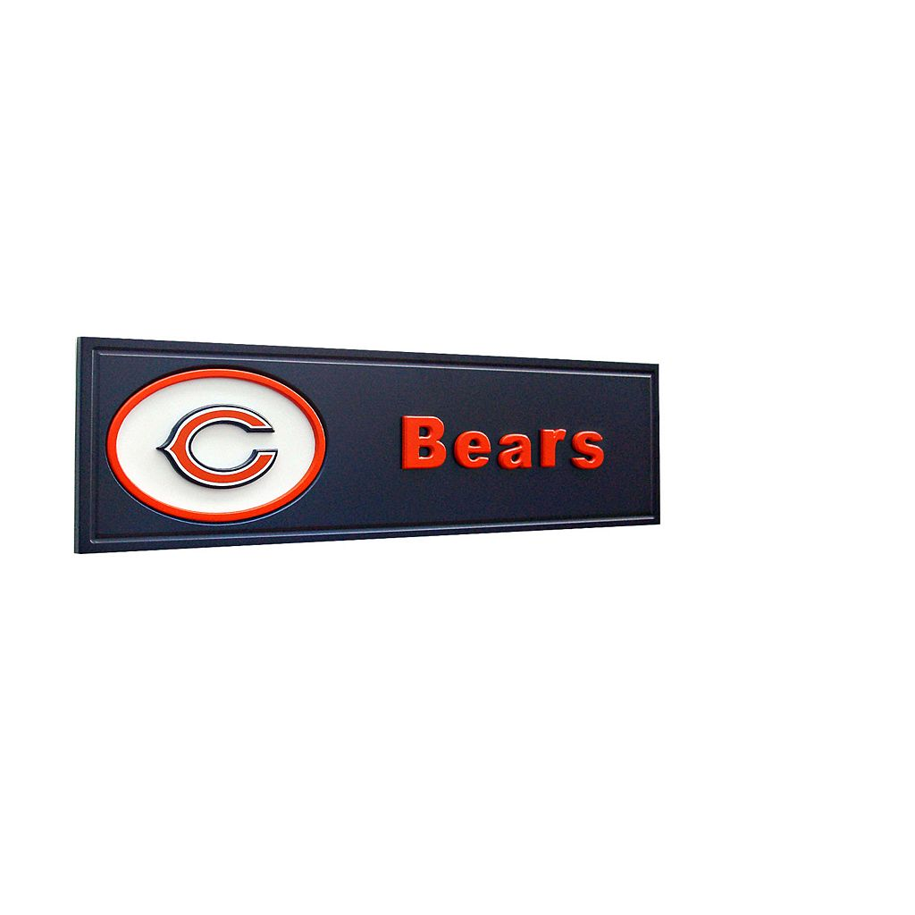 Chicago Bears Team Name Plaque