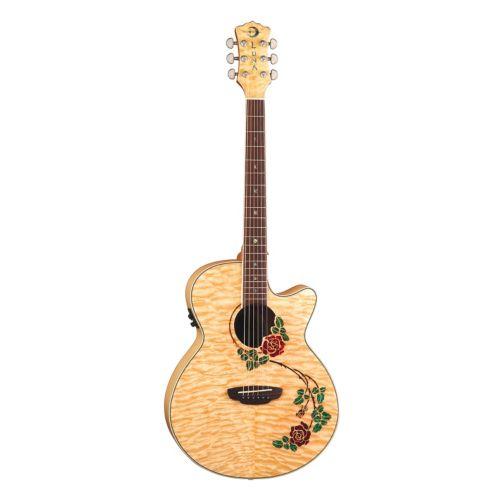Luna Flora Rose Acoustic/Electric Guitar