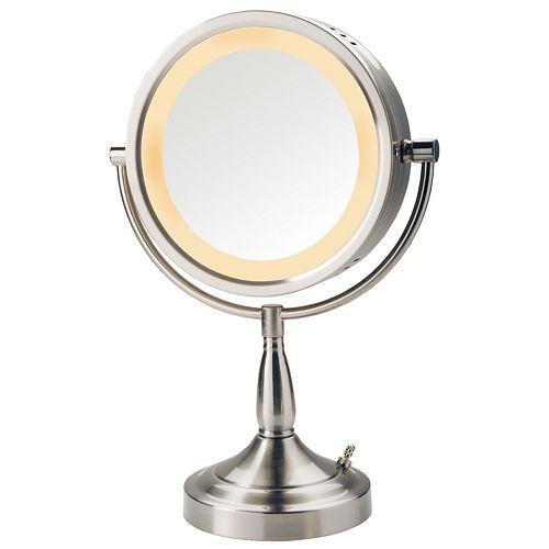 Jerdon 8 1/2-in. Lighted Vanity Mirror