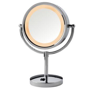 Jerdon 8 1/2-in. Chrome Lighted Vanity Mirror