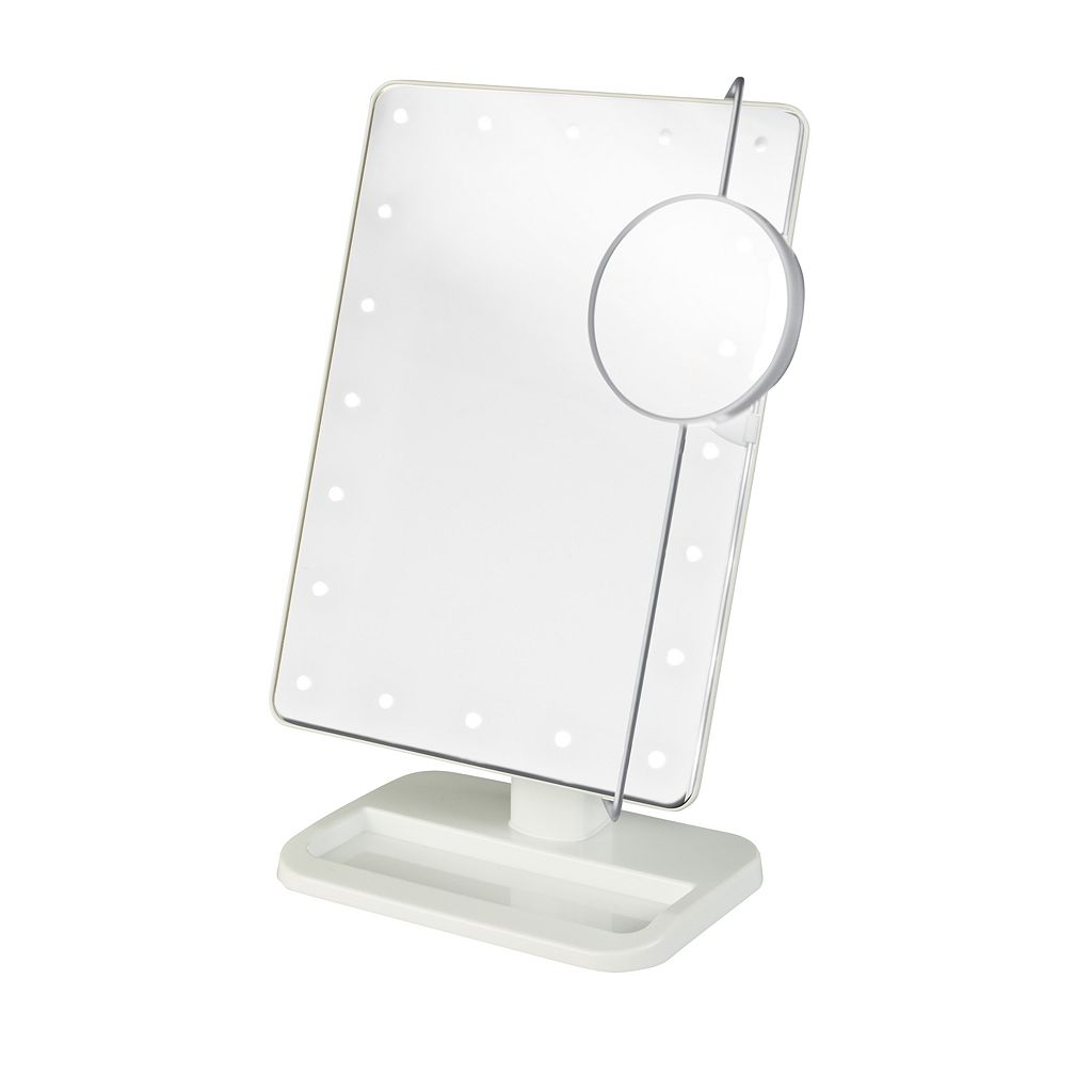 Jerdon Portable LED Lighted Makeup Mirror
