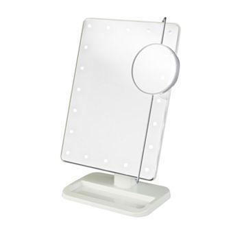 Jerdon Portable LED Lighted Makeup Mirror