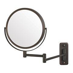 Jerdon Adjustable 8 in Wall Mirror