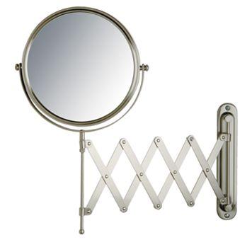 Jerdon Adjustable 8-in. Scissor-Arm Wall Mirror