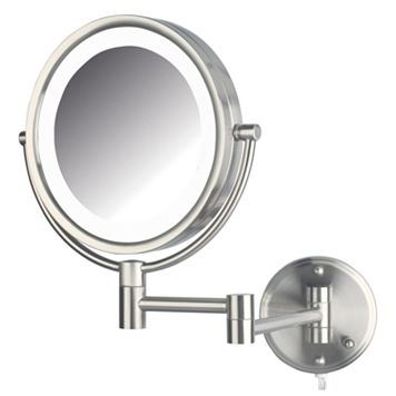 Jerdon Adjustable 8 1/2-in. LED Lighted Wall Mirror