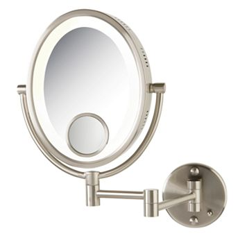 Jerdon Adjustable 8 1/2-in. Lighted Wall Mirror