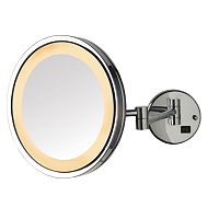 Jerdon Adjustable 9 1/2-in. LED Lighted Wall Mirror