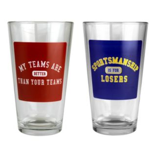 Busted Tees Sportsmanship 2-pk. Pint Glasses