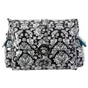 Kalencom Toile Laminated Buckle Diaper Bag - Black and White