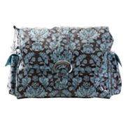 Kalencom Toile Laminated Buckle Diaper Bag - Blue and Brown