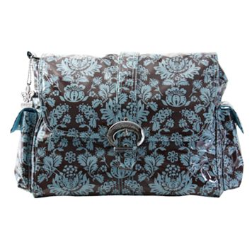 Kalencom Toile Laminated Buckle Diaper Bag - Blue & Brown