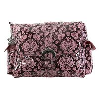 Kalencom Toile Laminated Buckle Diaper Bag - Pink & Brown