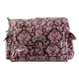 Kalencom Toile Laminated Buckle Diaper Bag - Pink and Brown