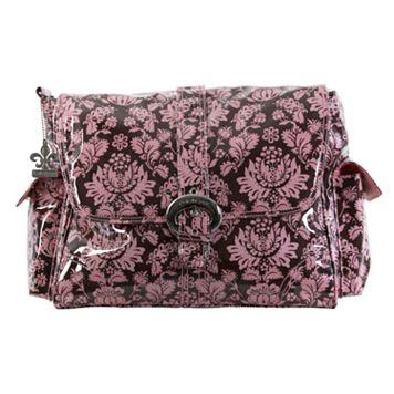 Kalencom Toile Laminated Buckle Diaper Bag - Pink & Brown